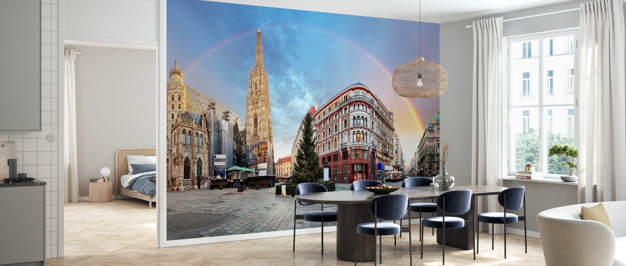 Vienna Square med Regnbue - Tapet - Kjøkken