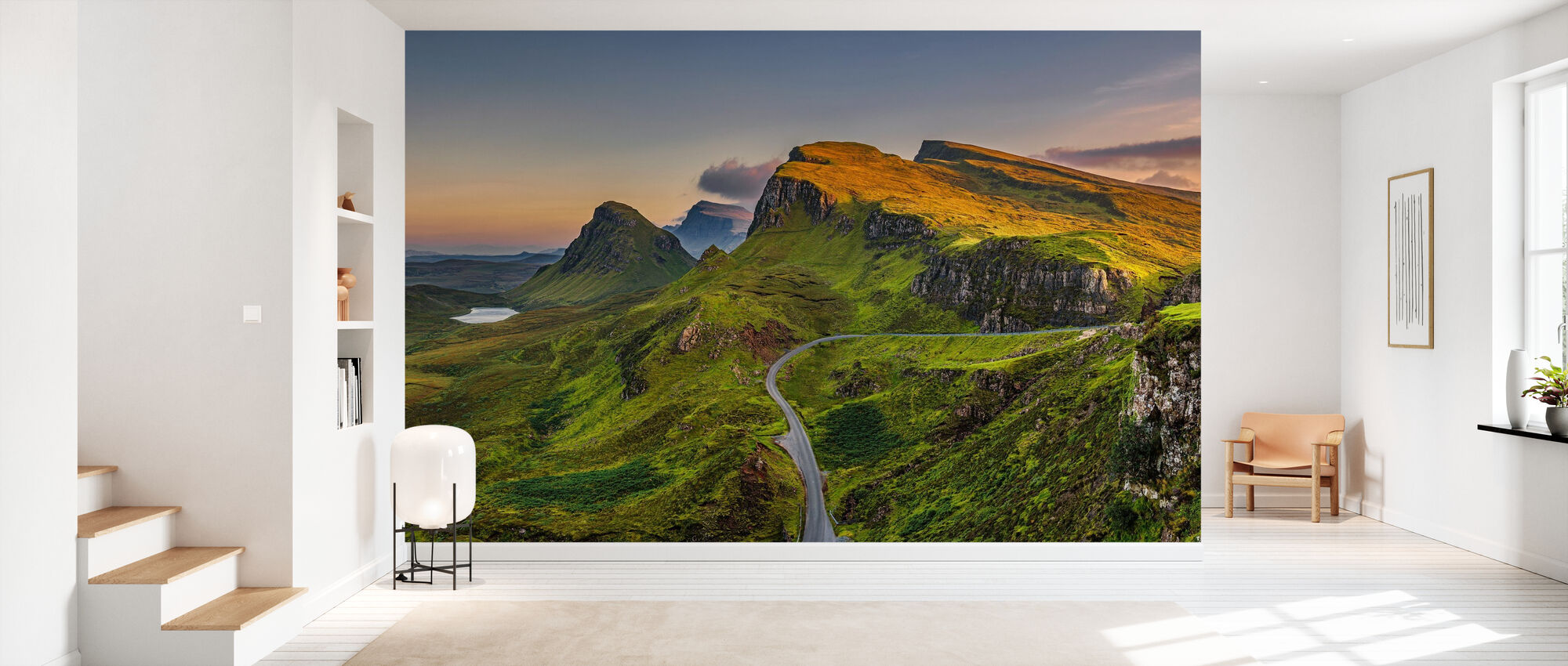 Quiraing Mountains Sunset - Wallpaper - Hallway