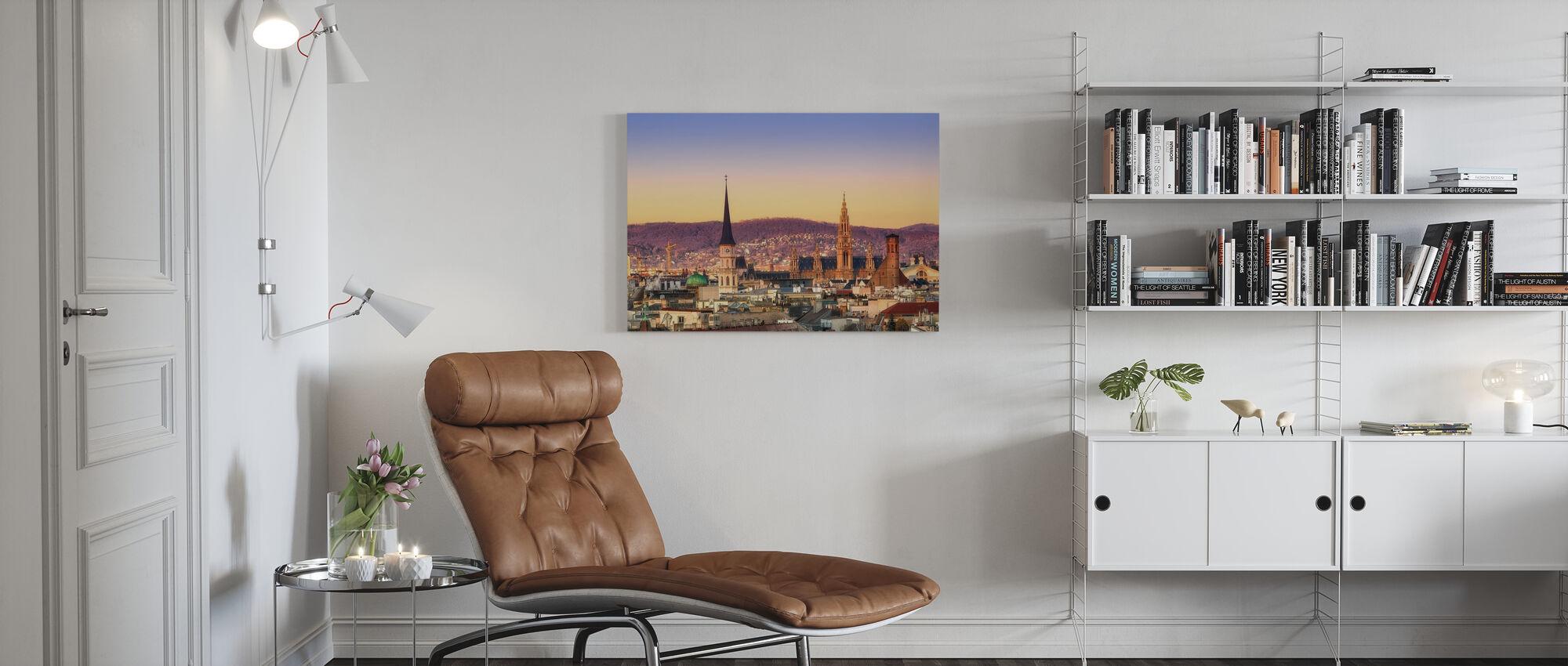 Wien Sonnenaufgang - Leinwandbild - Wohnzimmer