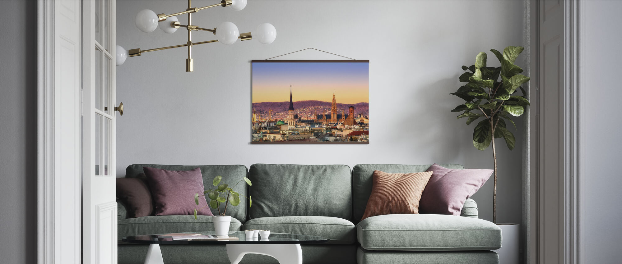 Vienna Sunrise - Poster - Living Room