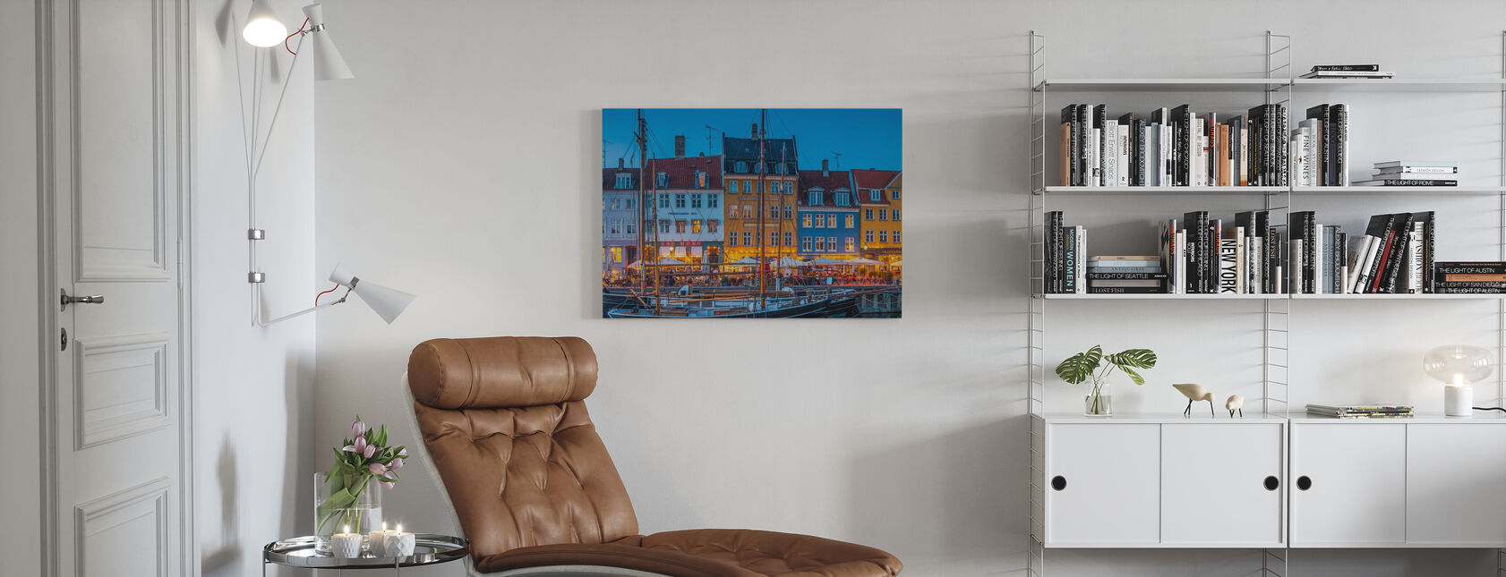 Colorful Bars and Restaurants - Canvas print - Living Room