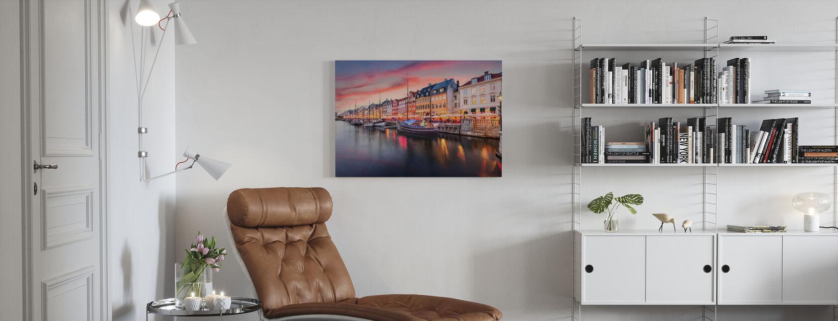 Nyhavn Canal - Billede på lærred - Stue