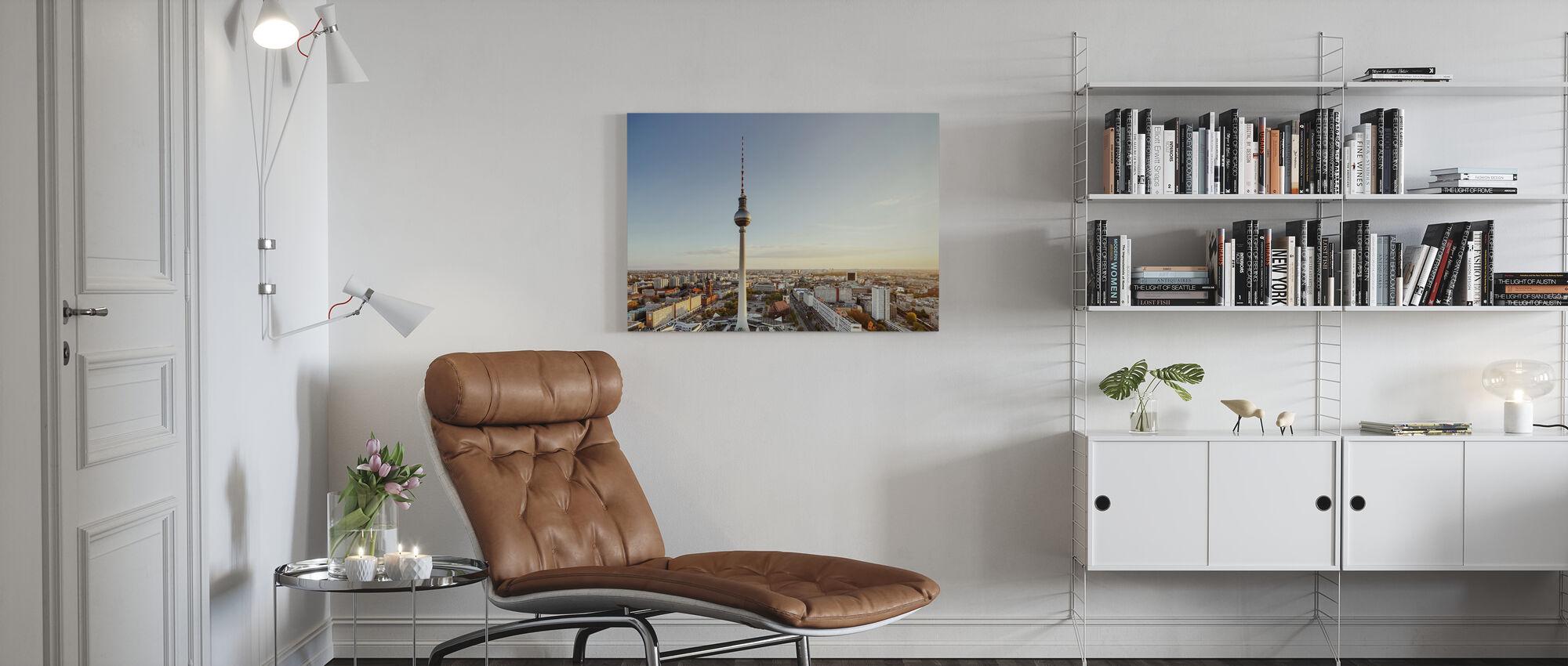 TV-torni Sunset - Canvastaulu - Olohuone