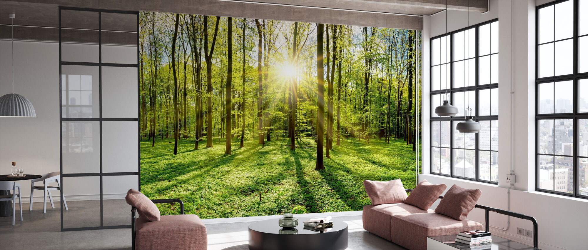 Forest in Bright Sunshine - Wallpaper - Office