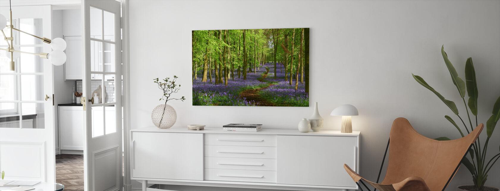 Springtime Bluebell - Leinwandbild - Wohnzimmer