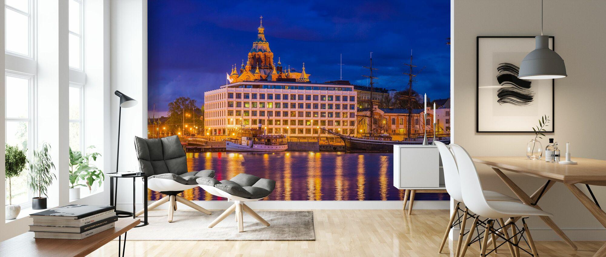 Helsinki Harbour Waterfront - Wallpaper - Living Room