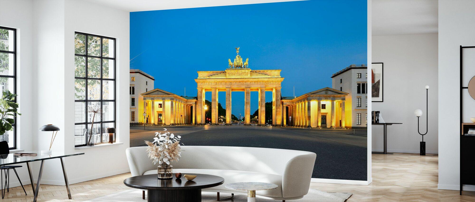 Paris Square with Brandenburg Gate - Wallpaper - Living Room