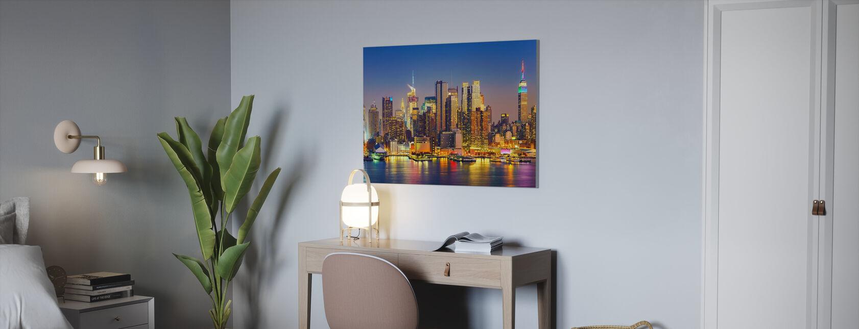 Manhattan After Sunset - Canvas print - Office