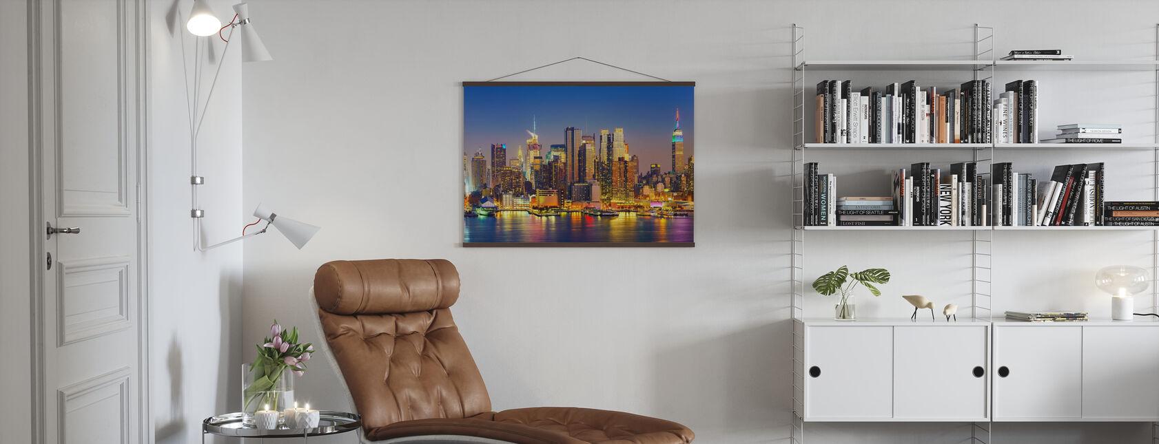 Manhattan na zonsondergang - Poster - Woonkamer