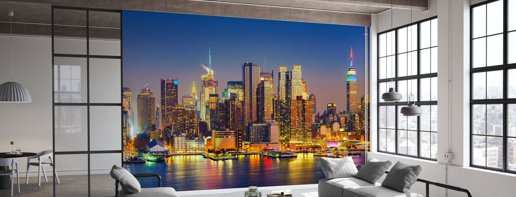 Manhattan After Sunset - Wallpaper - Office