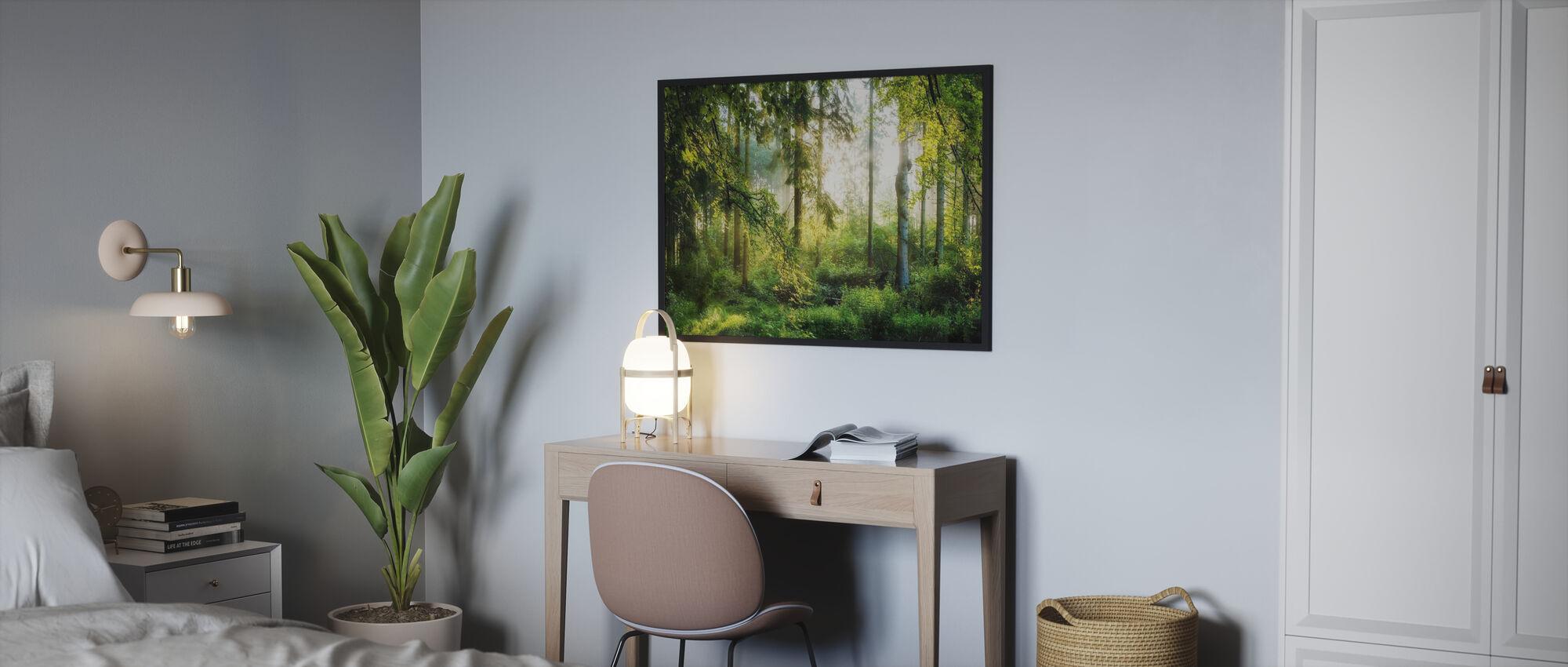 Soloppgang i skogen - Plakat - Soverom