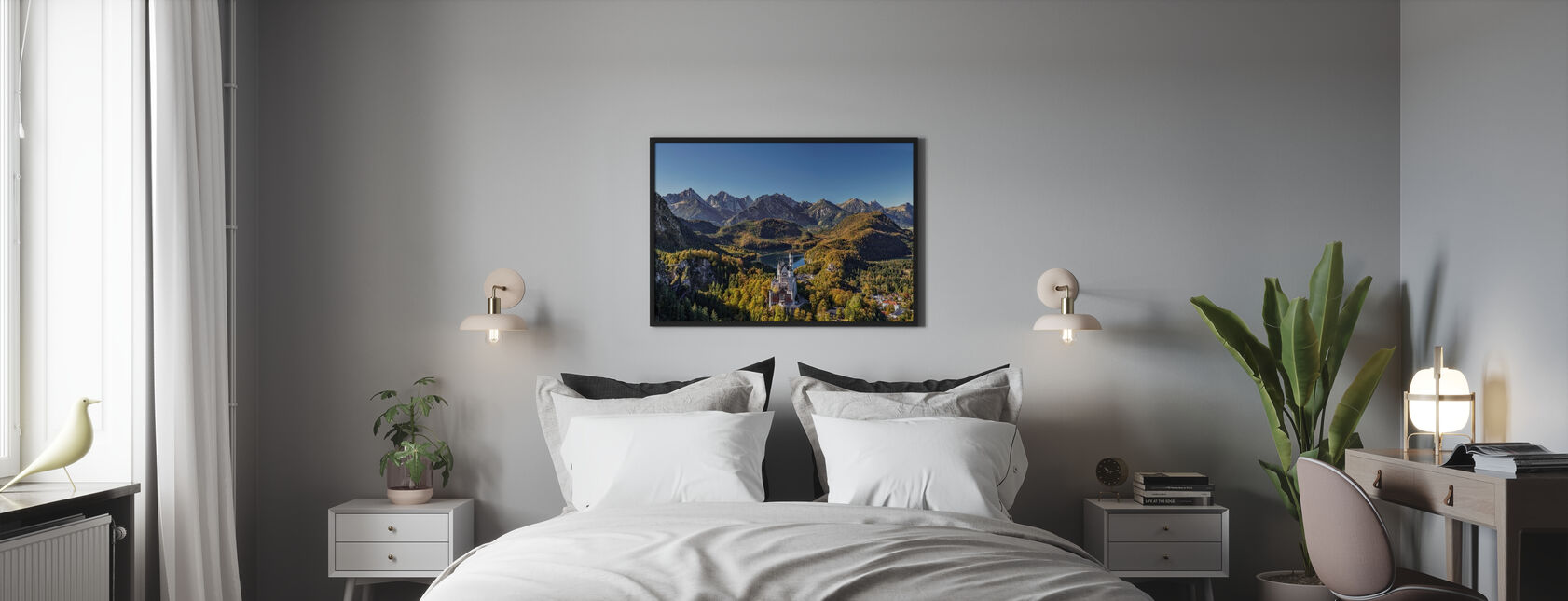 Castle in the Mountains - Framed print - Bedroom