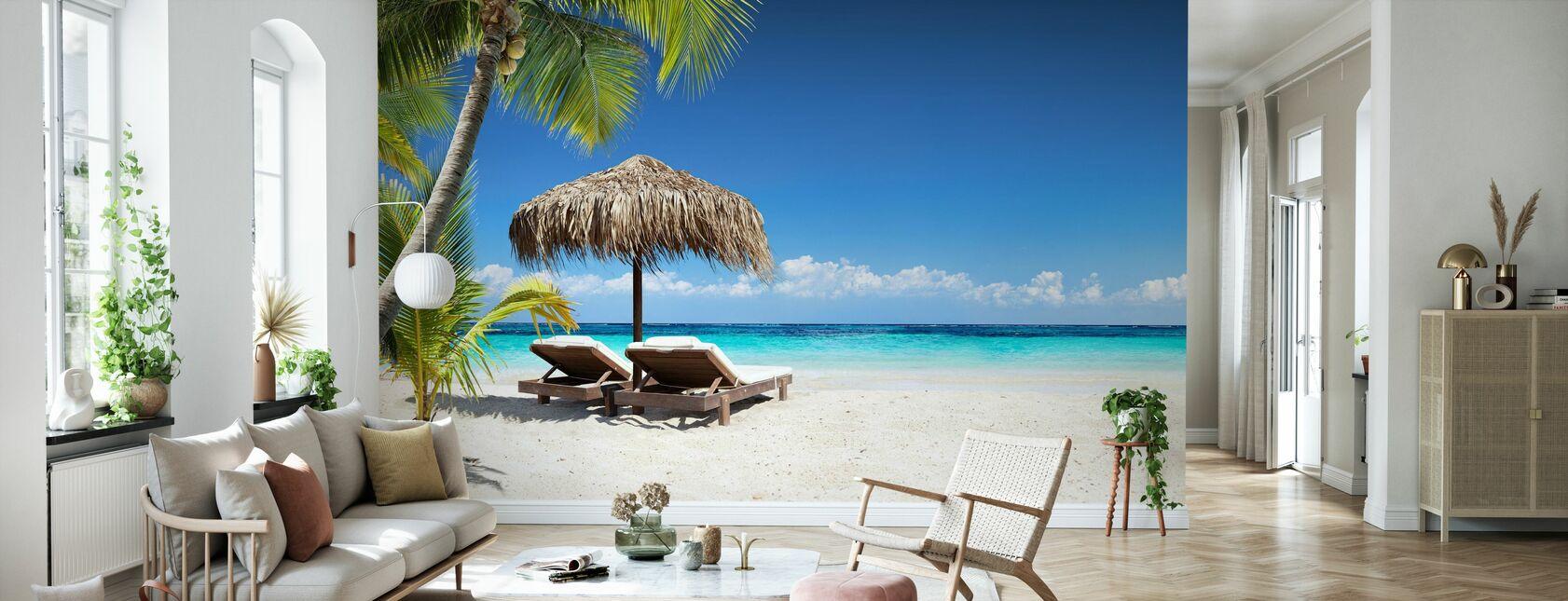 Coral Beach - Wallpaper - Living Room