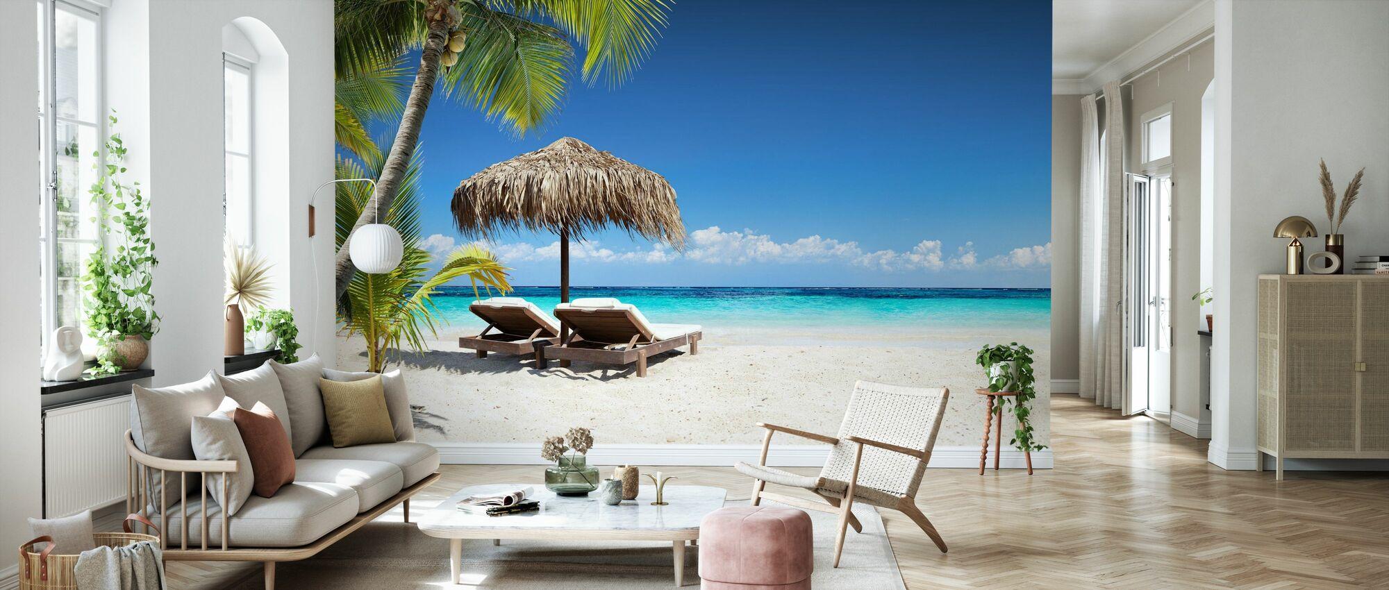Coral Strand - Behang - Woonkamer