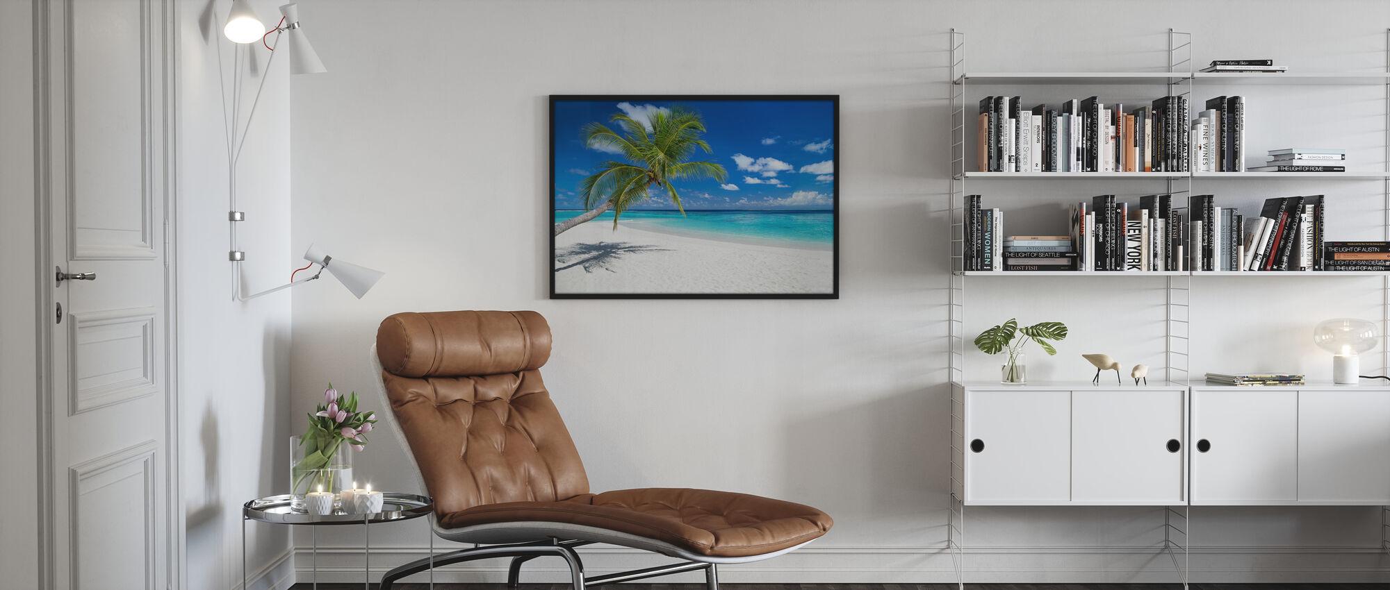 Tropical Beach - Framed print - Living Room