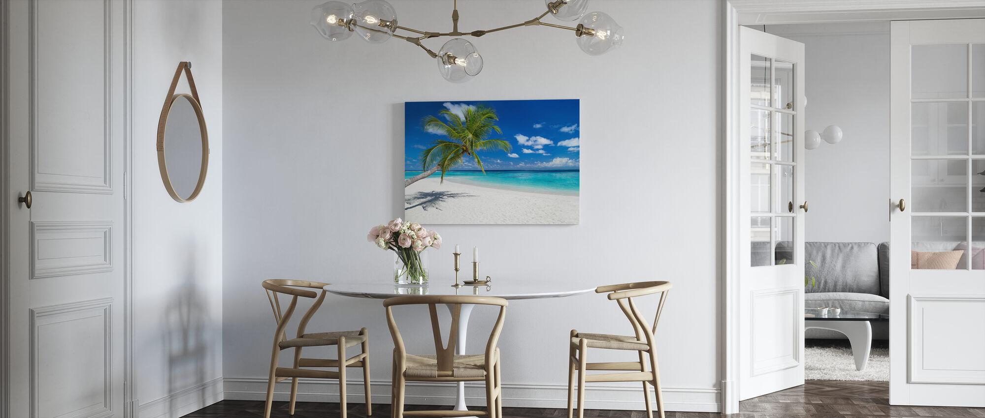 Tropical Beach - Billede på lærred - Køkken