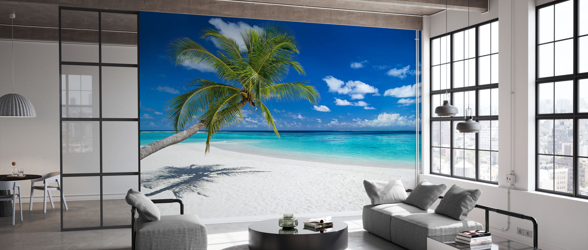 Tropical Beach - Wallpaper - Office
