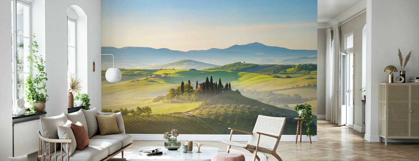 Toscana på våren morgon - Tapet - Vardagsrum