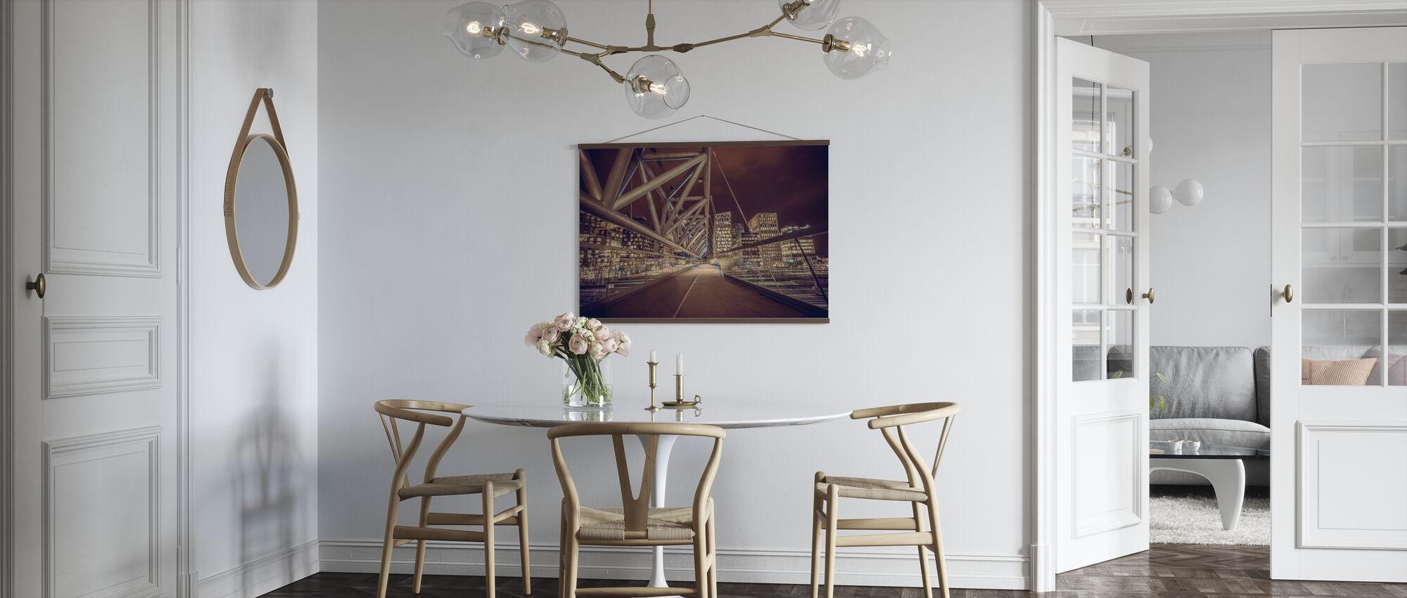 Fotgjengerbro i Oslo - Plakat - Kjøkken