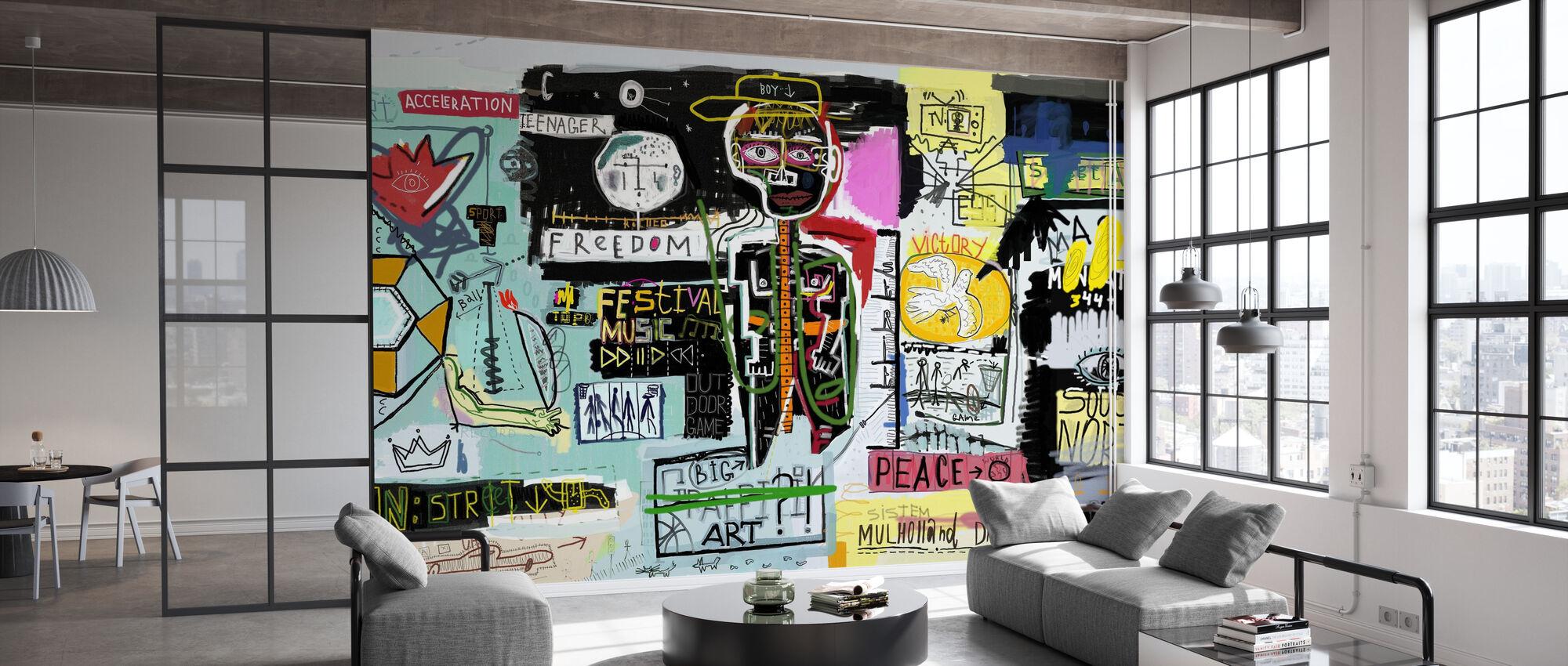 Graffiti Wall - Wallpaper - Office