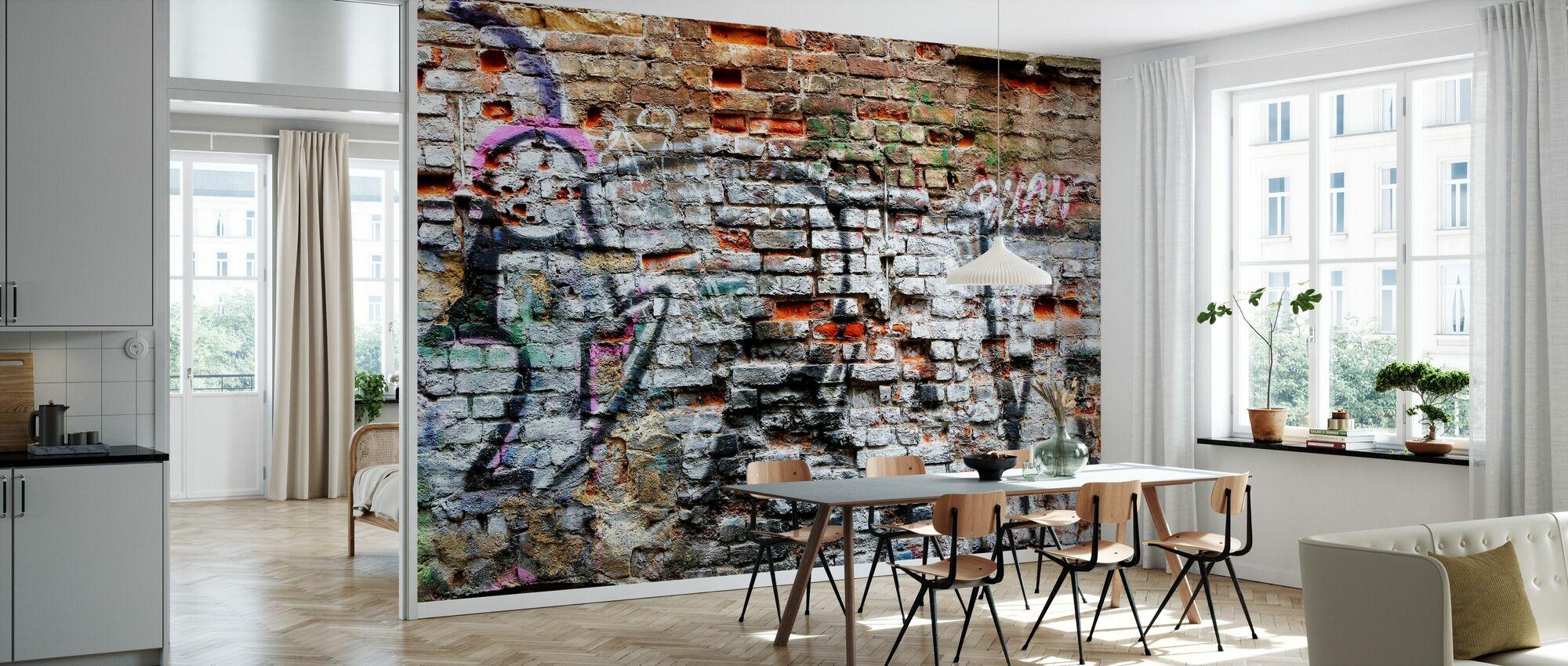 Murvegg Graffiti - Tapet - Kjøkken