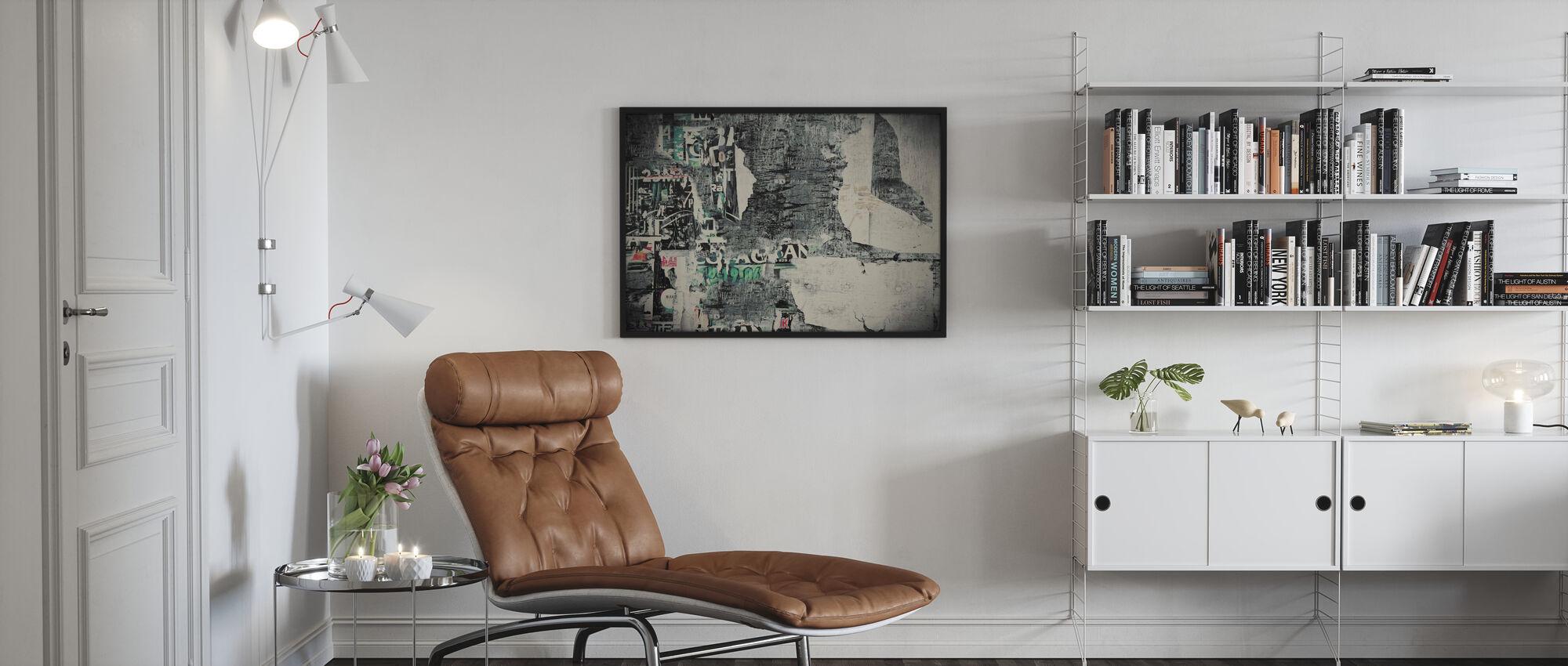 Repaletut abstraktit julisteita - Kehystetty kuva - Olohuone