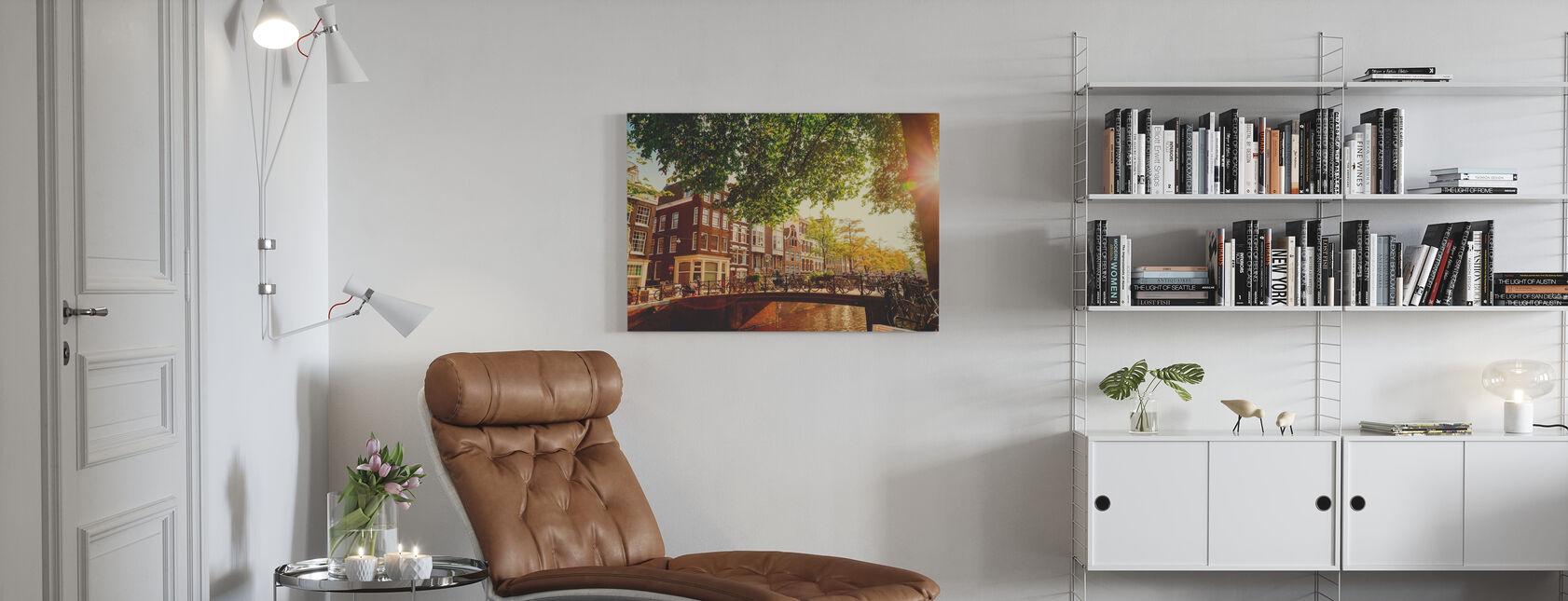 Brug in Amsterdam - Canvas print - Woonkamer
