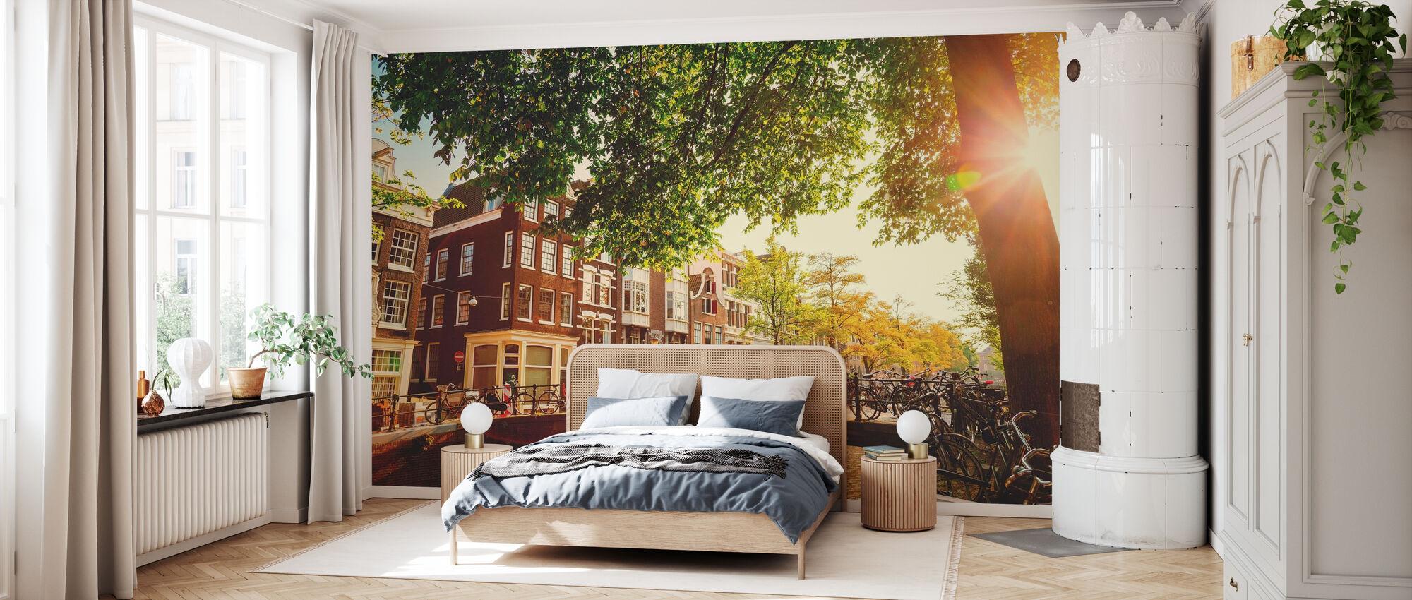 Bridge in Amsterdam - Wallpaper - Bedroom
