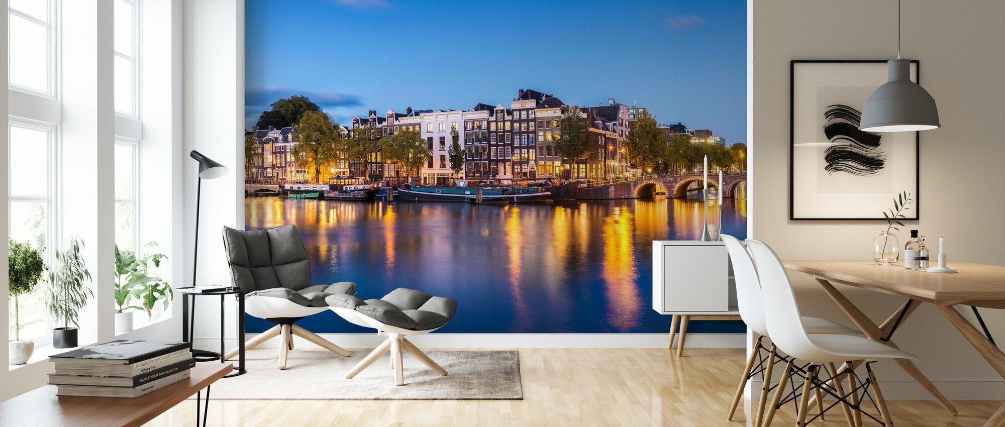 Skinny Bridge and Amstel Canal - Wallpaper - Living Room