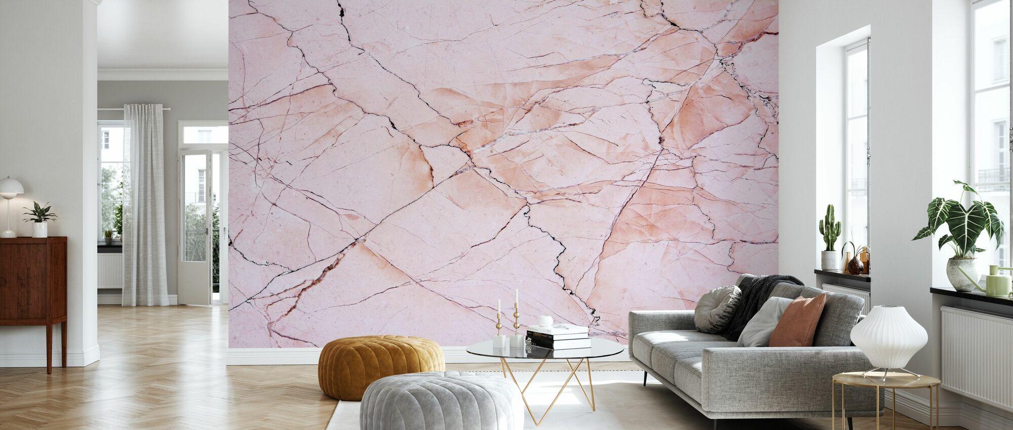 Rosa ljus marmor sten - Tapet - Vardagsrum