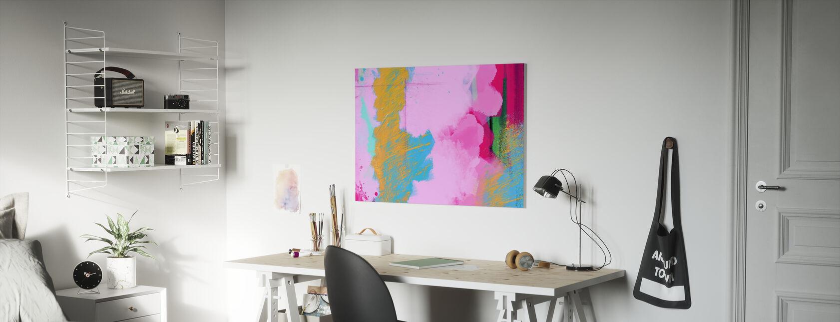 Golden abstrakt marmor - Lerretsbilde - Barnerom