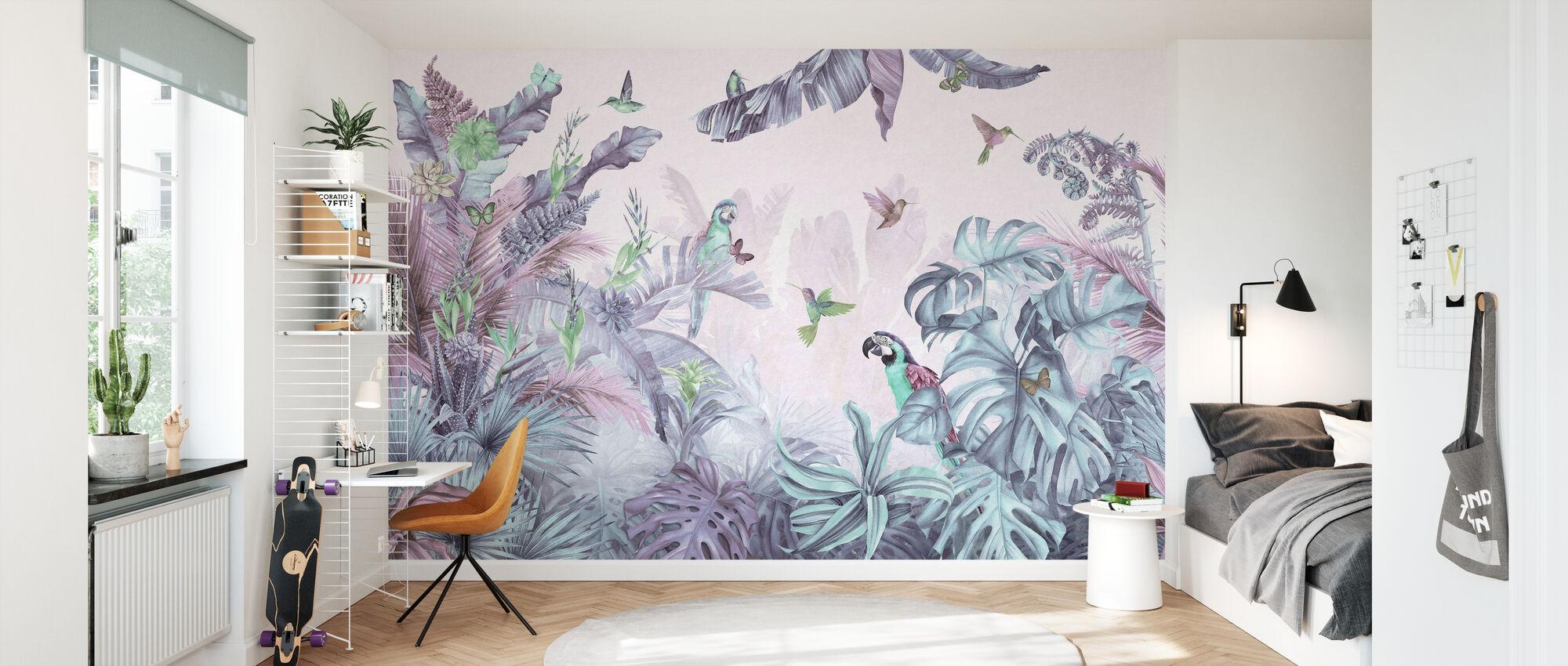Papegøyer Paradise - Polykrom - Tapet - Barnerom