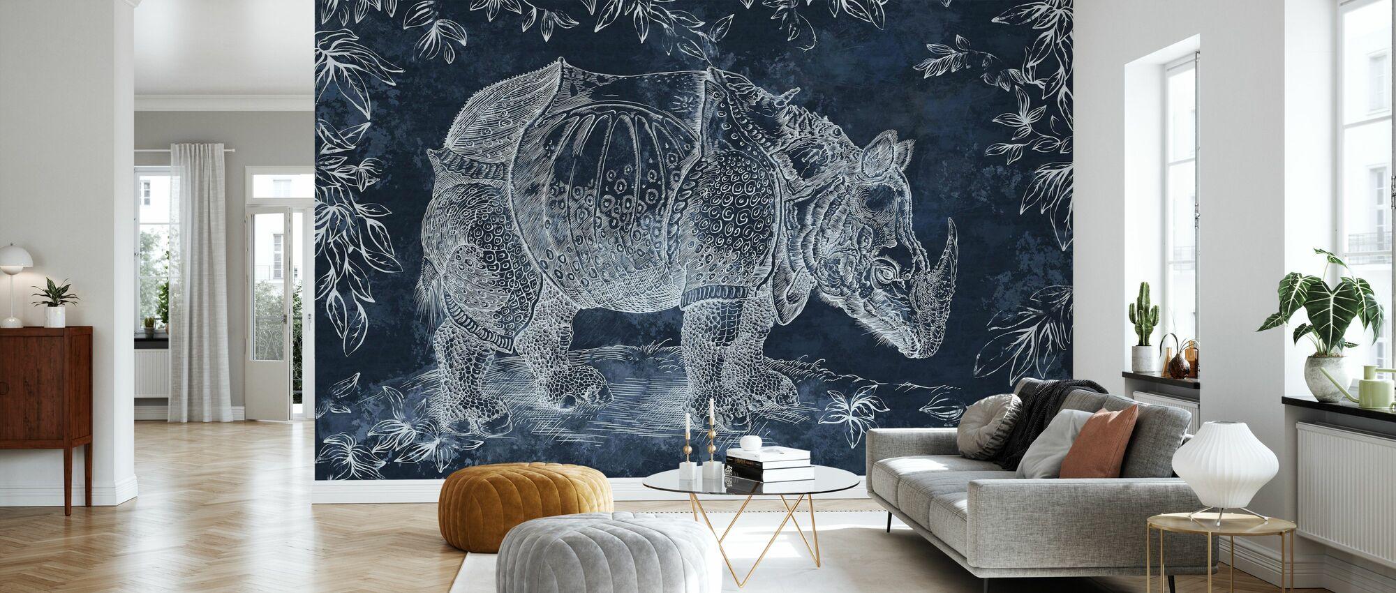 Rhino - Tummansininen - Tapetti - Olohuone
