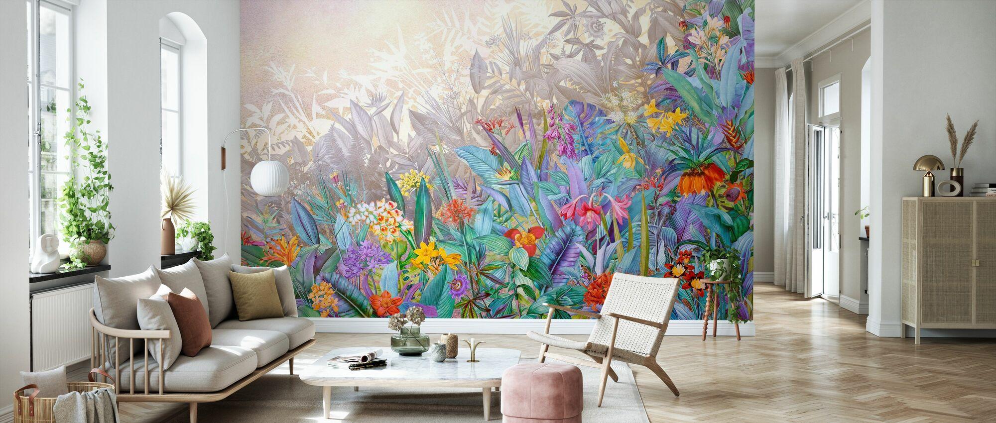 Colorful Blossom - Wallpaper - Living Room