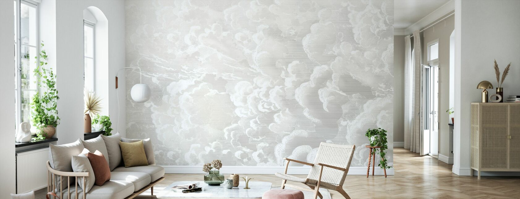 Culla in Nuvole - Pastello - Carta da parati - Salotto