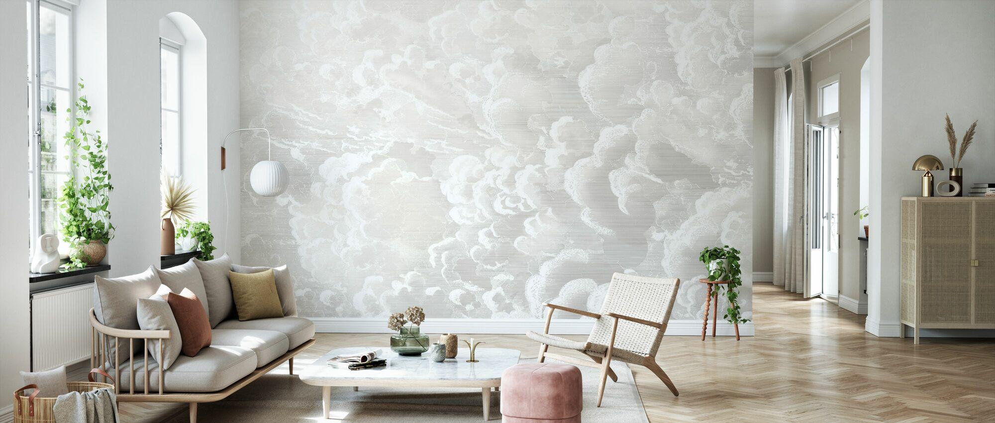 Cradled in Clouds - Pastel - Wallpaper - Living Room