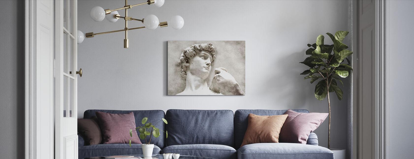 Statua di David di Michelangelo - Stampa su tela - Salotto