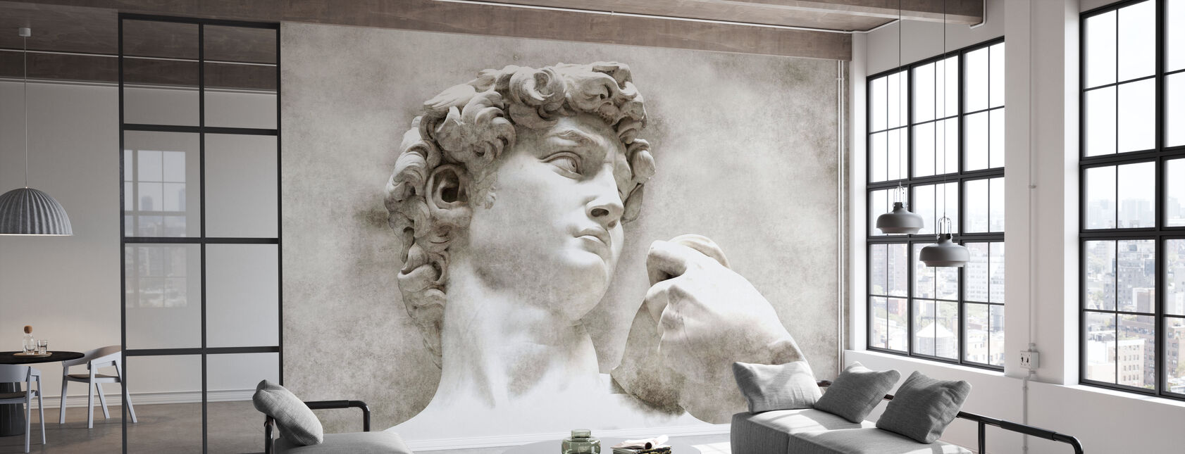 Statua di David di Michelangelo - Carta da parati - Uffici