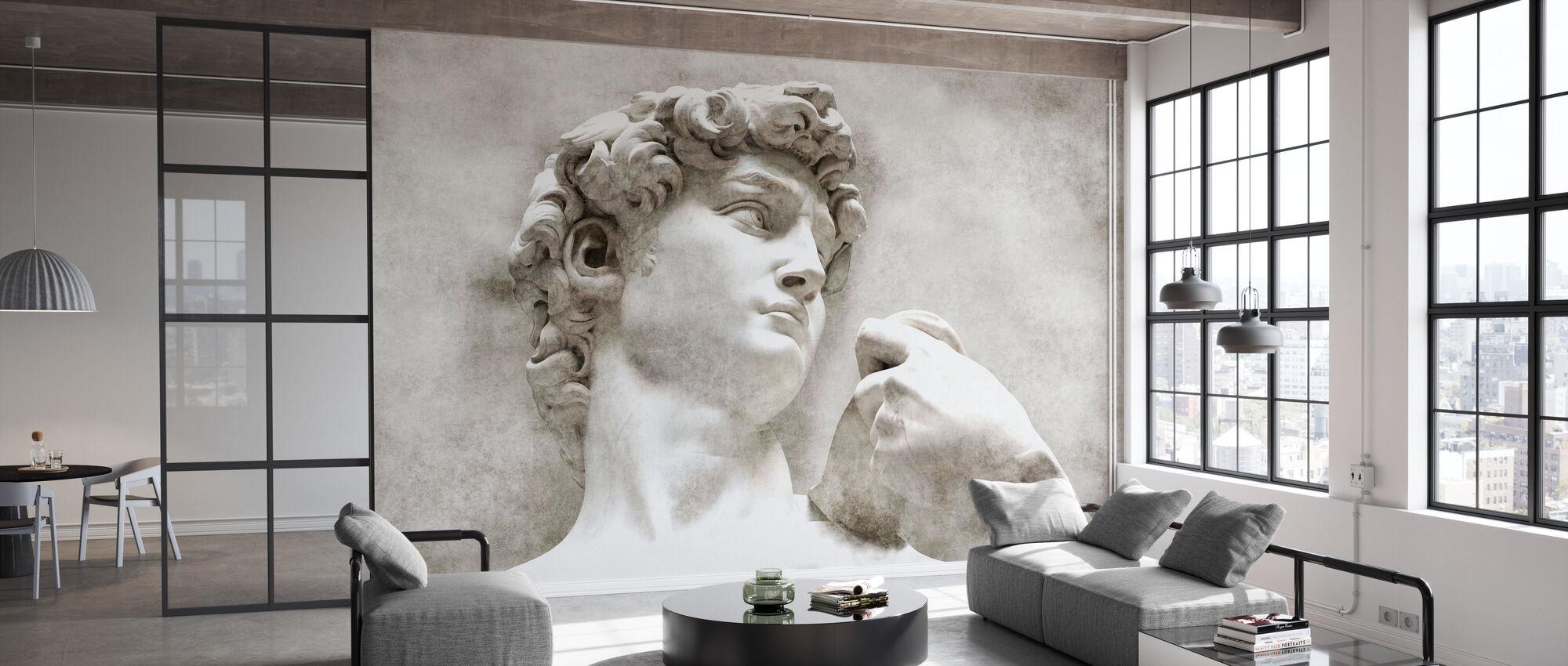 David Statue von Michelangelo - Tapete - Büro