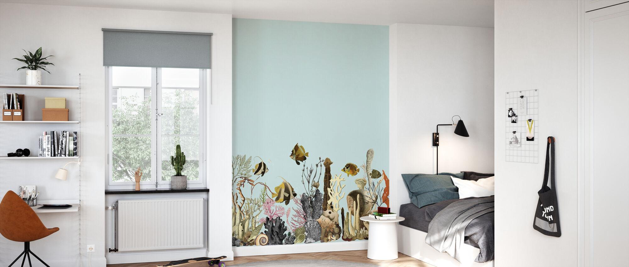 Aquarius - Green - Wallpaper - Kids Room