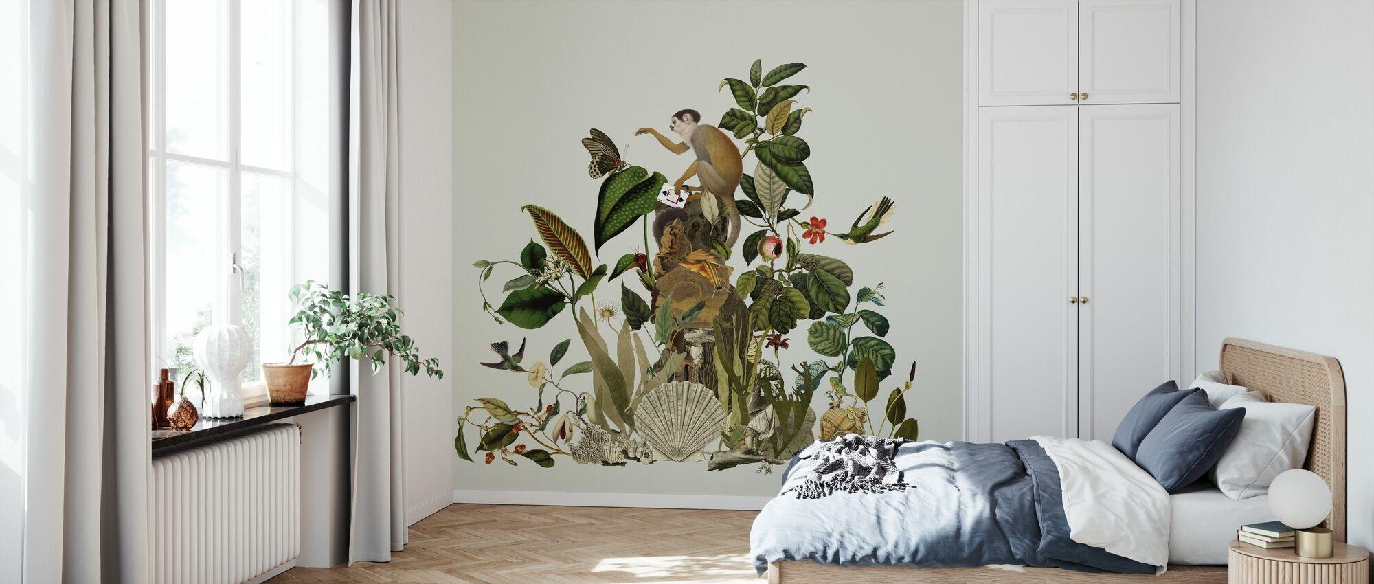 Enchanted - Green - Wallpaper - Bedroom