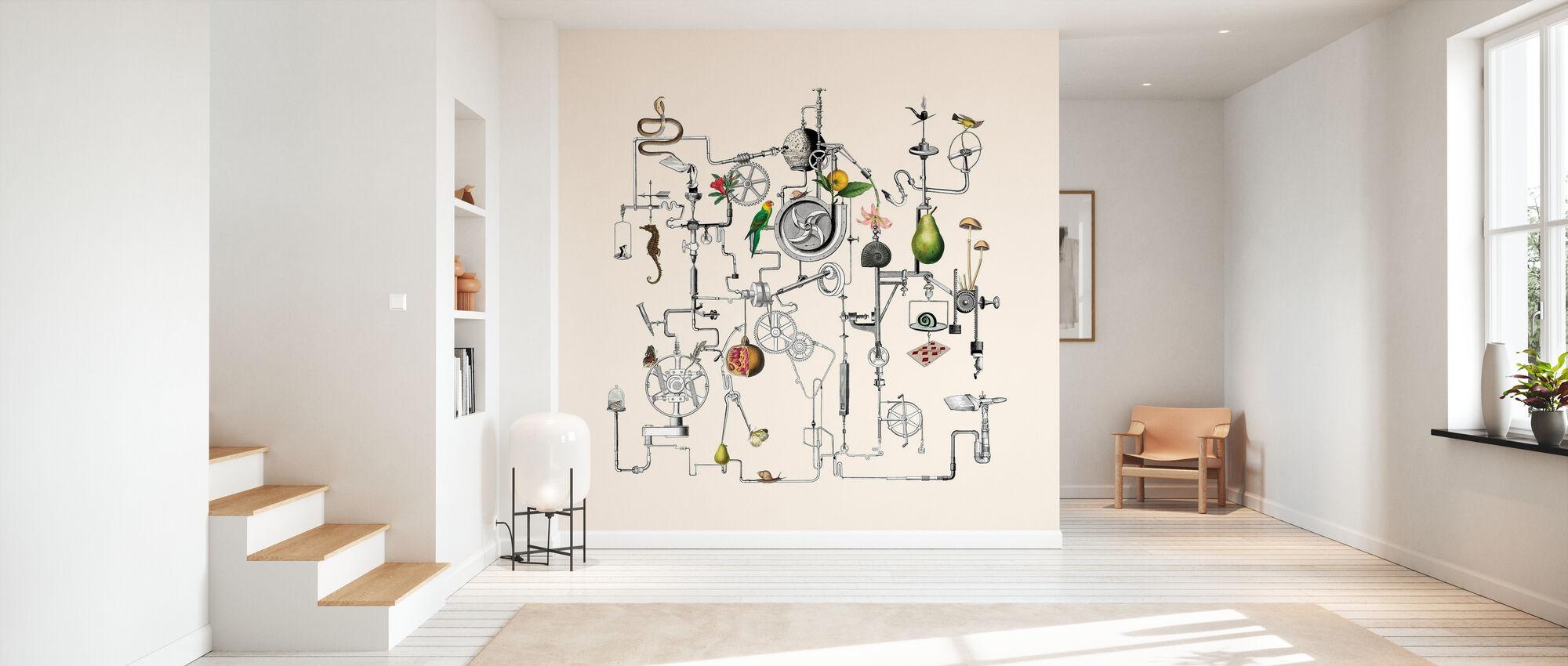 Ghost in the Machine - Peach - Wallpaper - Hallway