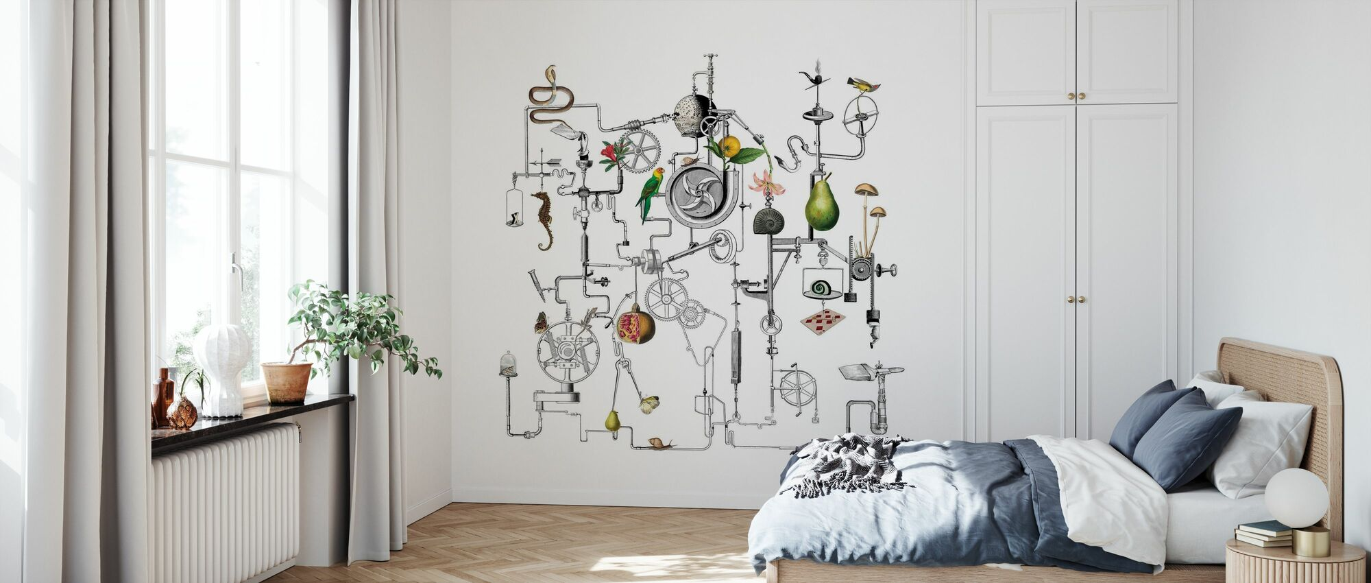 Ghost in the Machine - White - Wallpaper - Bedroom