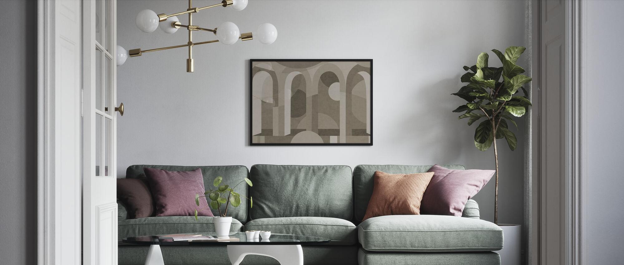 Archform - Brauntöne - Poster - Wohnzimmer