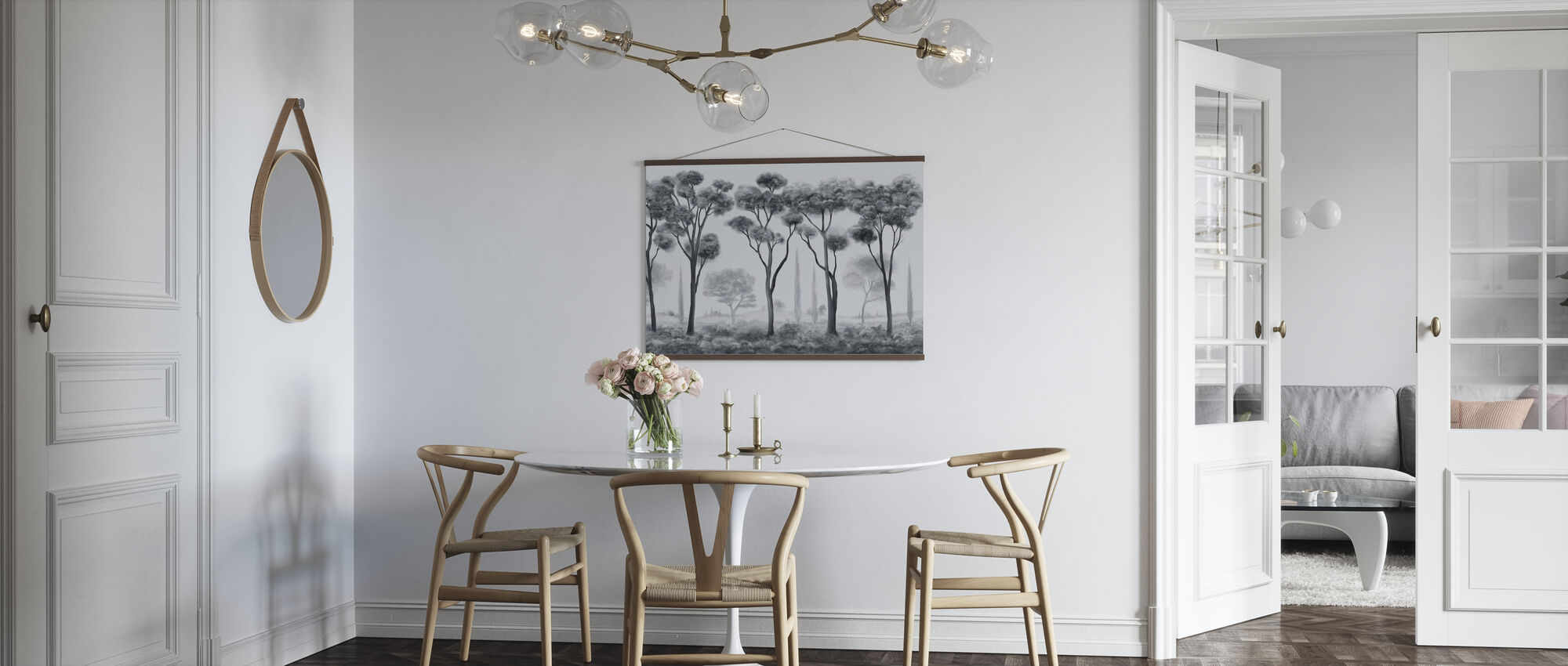 Light and Shade - Grey - Poster - Kitchen