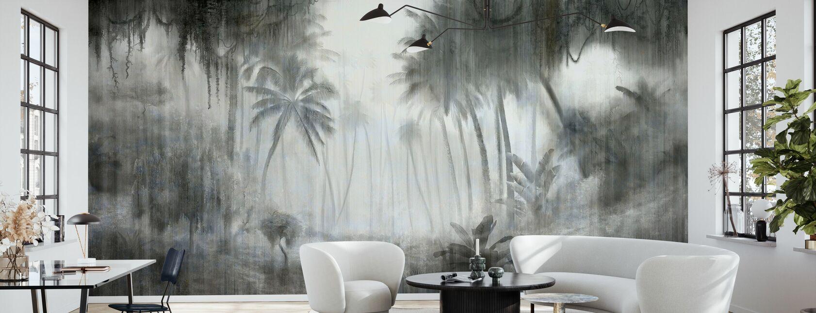 Definitive Tropical - Bright - Wallpaper - Living Room