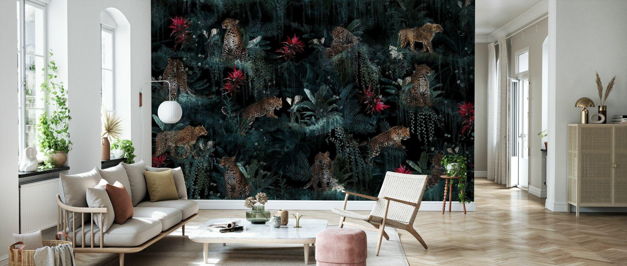 Lush Leopards - Wallpaper - Living Room