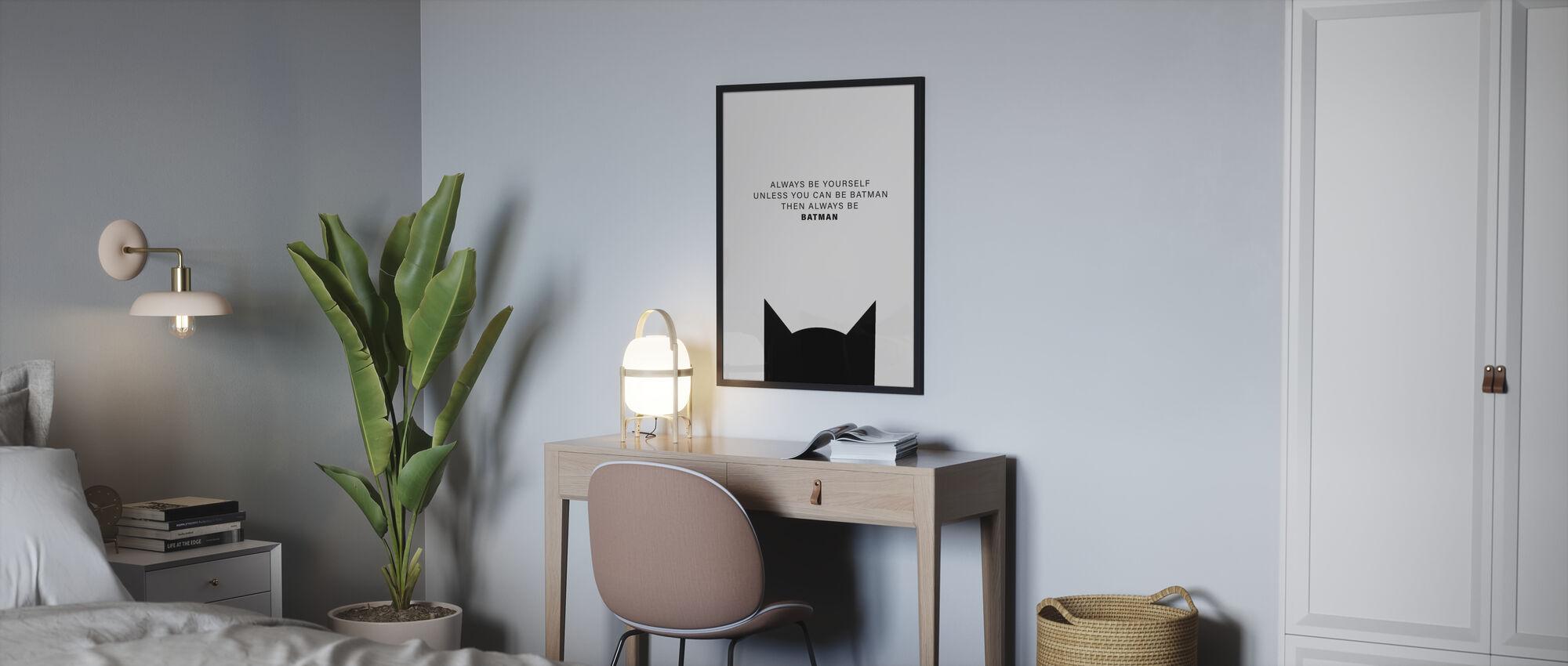 Batman - Framed print - Bedroom