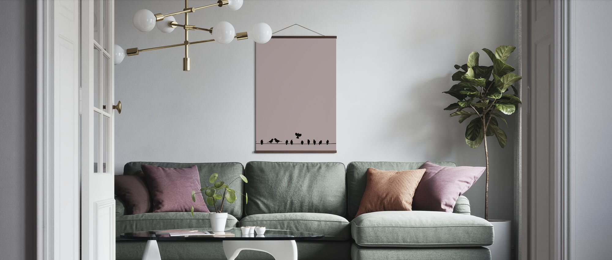 Bird Wire - Poster - Living Room