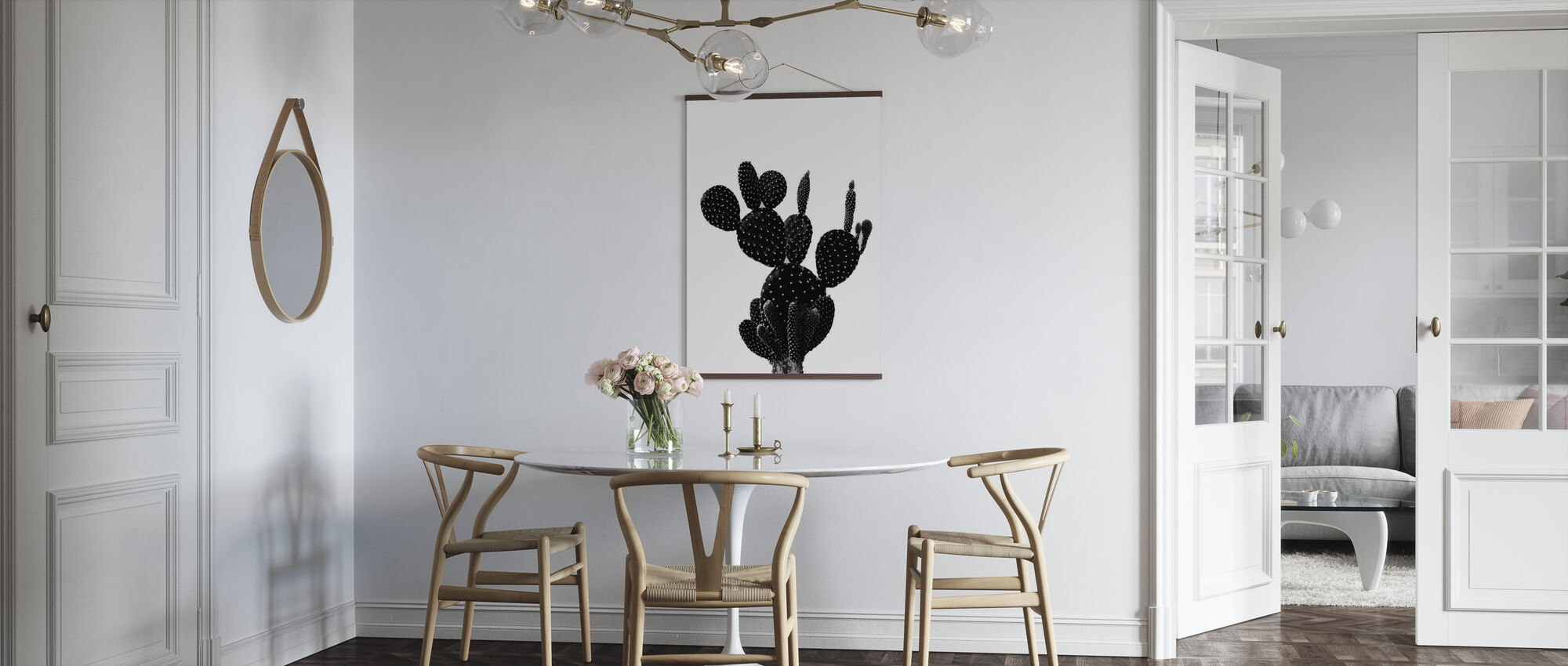 Black Cactus - Poster - Kitchen